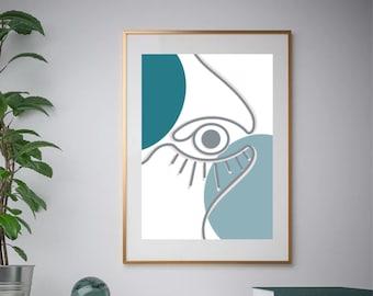Nazar Dictionary Definition Minimalist Wall Art Modern Framed Print Funny