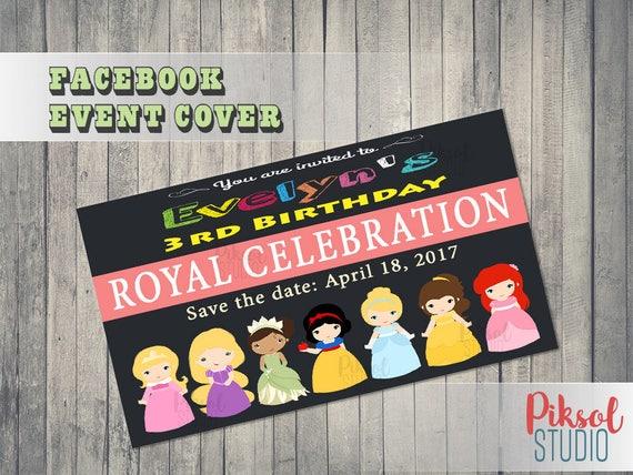 Disney Princess Facebook événement Couverture Anniversaire Fichier Numérique