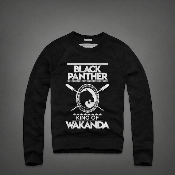 King of Wakanda Black Panther Men s Crewneck Sweatshirt  e30f03873
