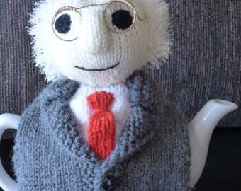 Michael D Higgins teapot cosy/ Knitted teapot cosy/ Michael tea Higgins cosy/ Handmade teapot cozy