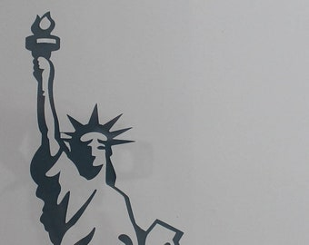 New York USA Statue of Liberty Landmark Single 2D Card Party Half Face Mask