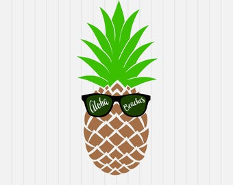 Aloha Beaches svg - Pineapple svg  - svg, dxf, eps, png, Pdf - Download - Cut File, Clipart - Cricut Explorer - Silhouette Cameo