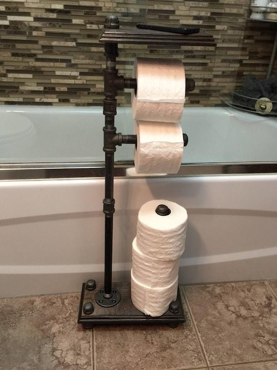 Industrie Freistehend 5 Rollen Toilettenpapierhalter Mit Regal Etsy