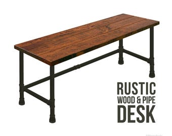 industrial style office desk modern industrial desk. Unique Industrial Desk Industrial Chic Pipe Modern Style Personal  Solid Wood Rustic Desk To Office E