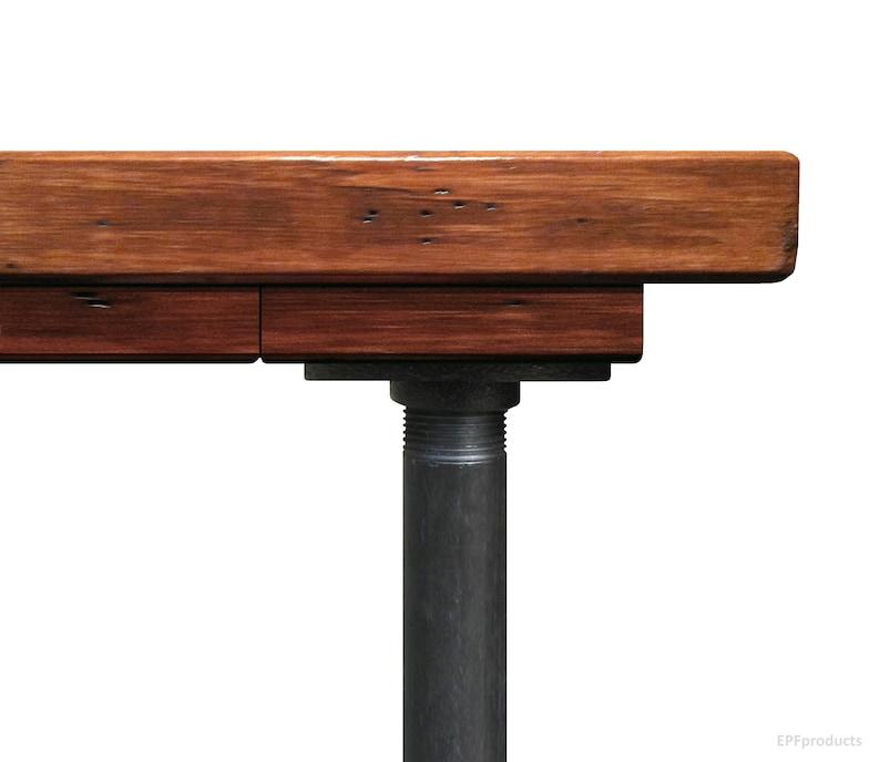 Rustic Wood Desk Urban Wood Desk L-Desk L Shaped Desk Industrial Style Pipe and Wood Computer Desk Corner Desk Office Work Station Desk