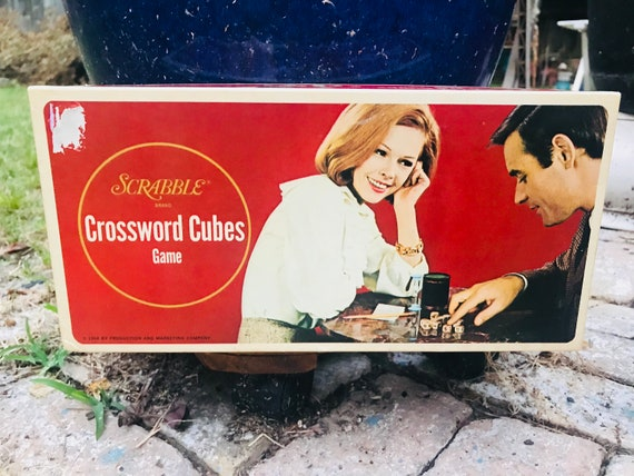 Scrabble Vintage Croix Cubes jeux Family Game Night