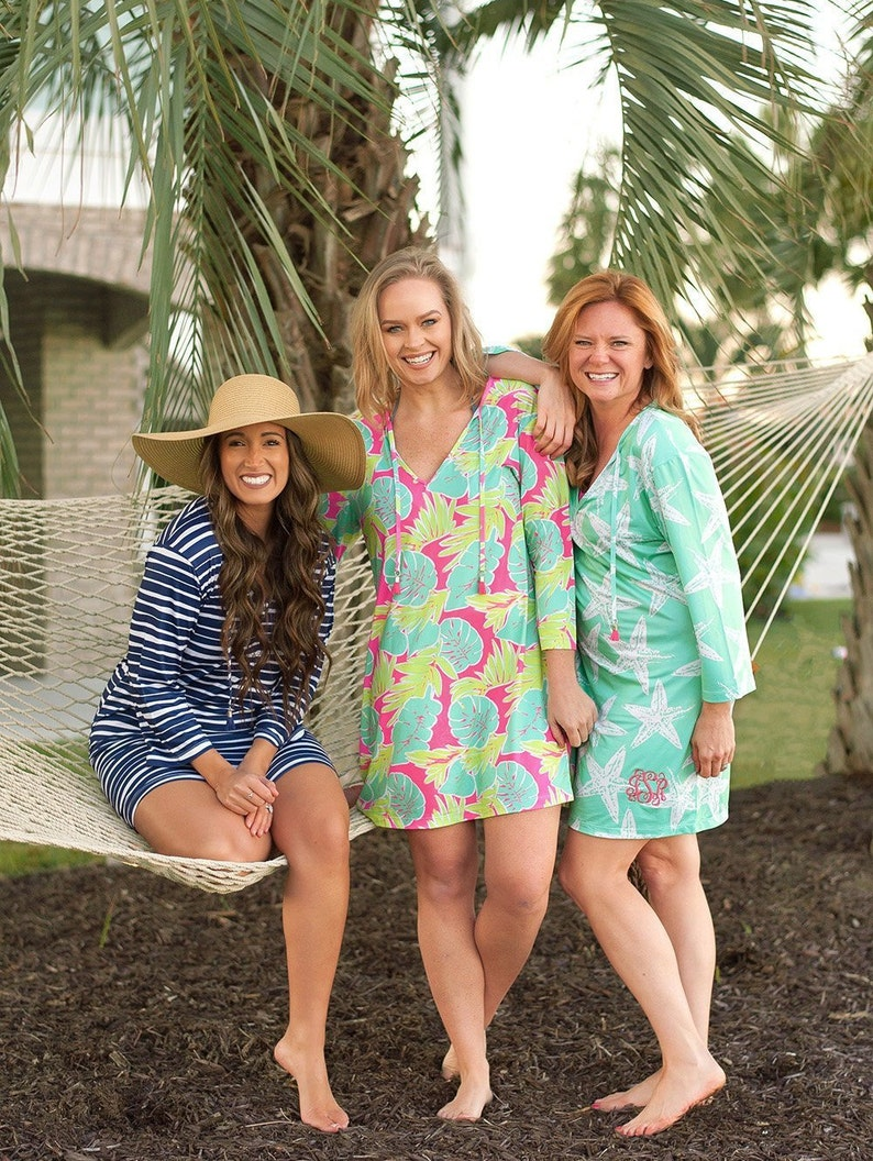 Lemons Navy Blue Yellow Personalized Womens Pool Cover Up Monogrammed Womens Tunic Personalized Summer Tunic