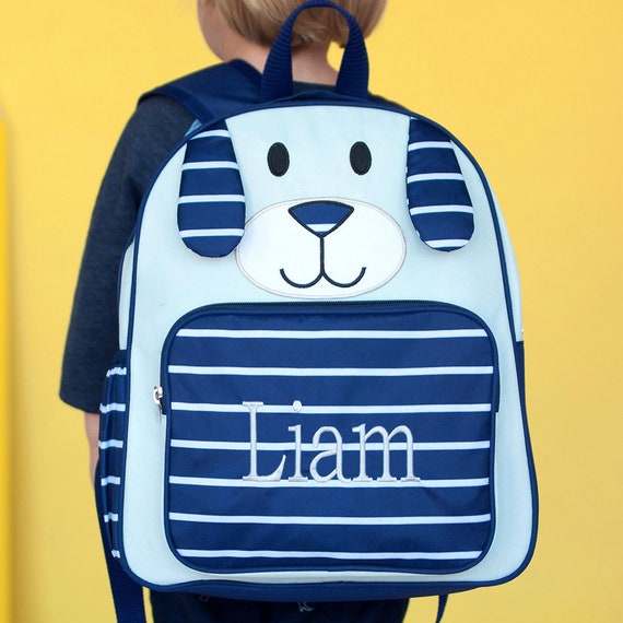Monogrammed Boys Preschool BackpackMonogrammed Pre K Blue  32908a14b12fd