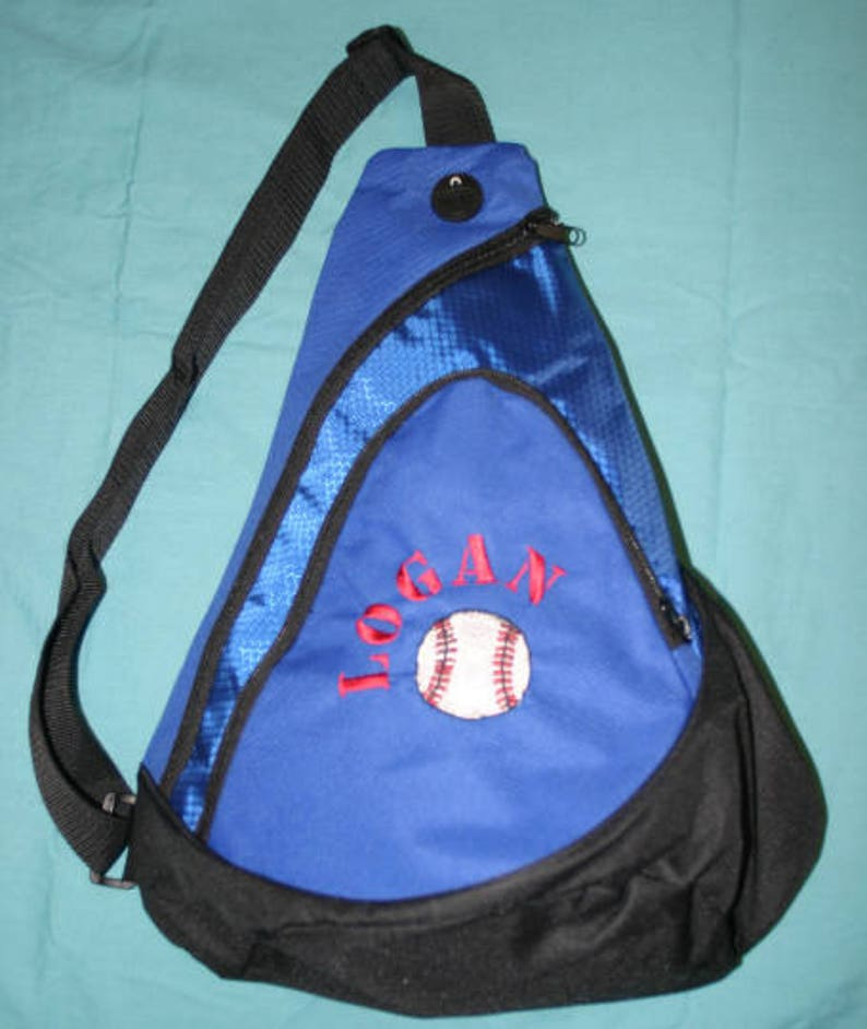Personalized Youth Sling Backpack,Set of 7 Monogrammed Kids Gym Bag,Ring Bearer Gift,Personalized Cheer Backpack,Gymnastics,Baseball