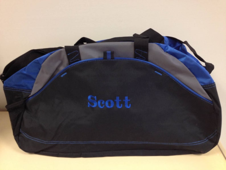 Personalized Duffle Bag Set of 9 Embroidered Groomsmen Duffle  76c18fefbd596