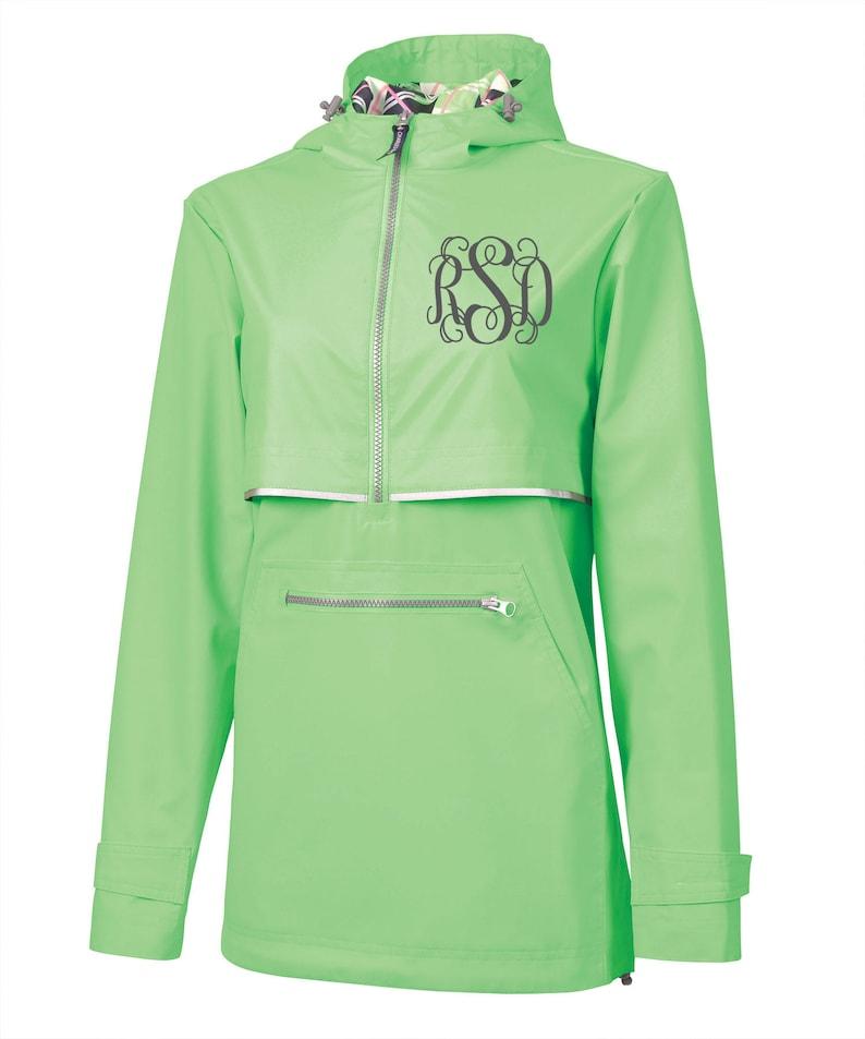 41f8ea829c6 Green Womens New Englander Rain Jacket Monogrammed