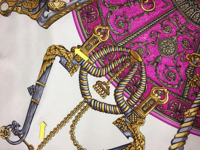 33x34 T3329 Free post Authentic Trussardi silk scarf