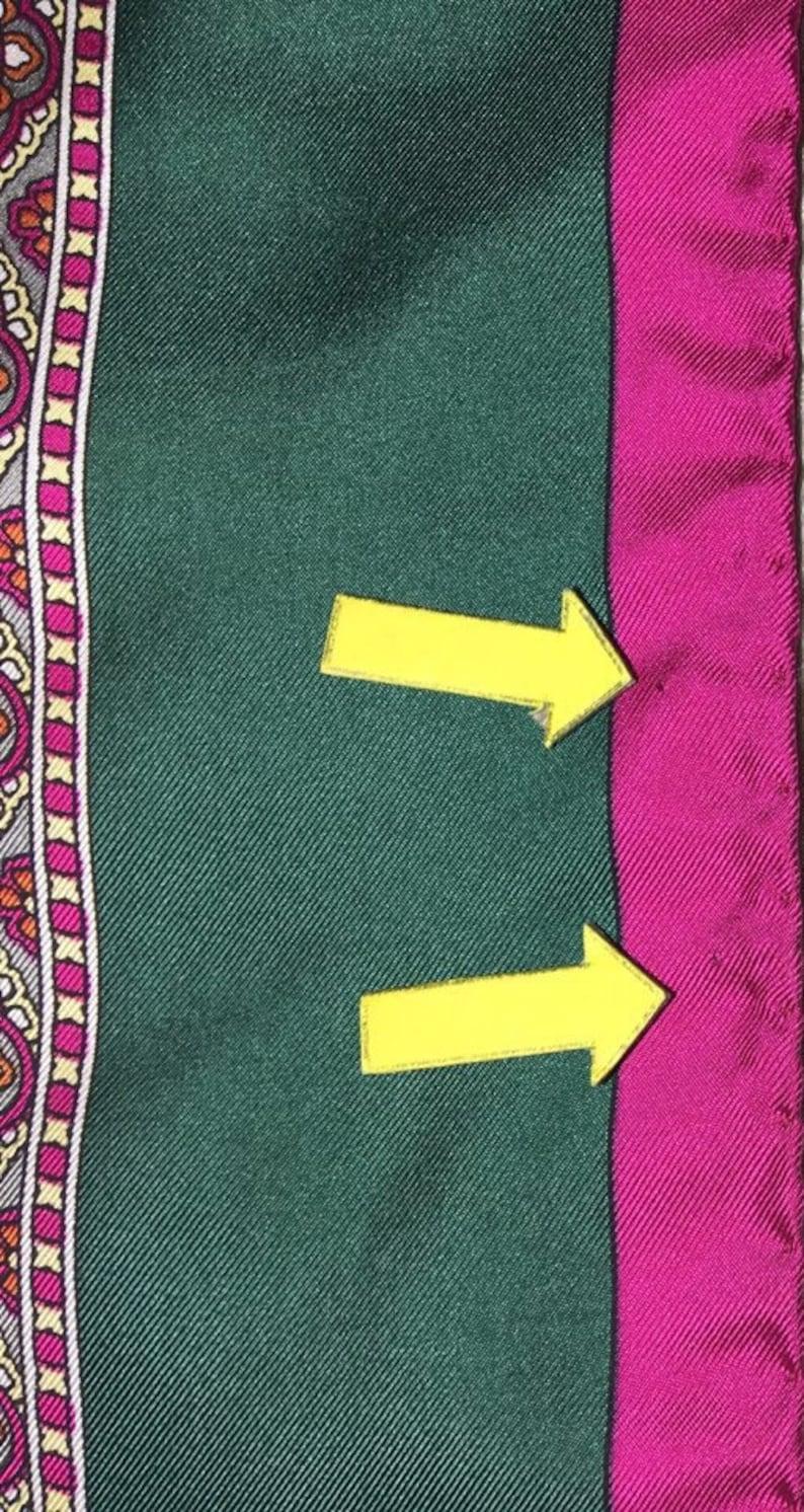 33x34 C3252 Free post Authentic Courreges   silk scarf