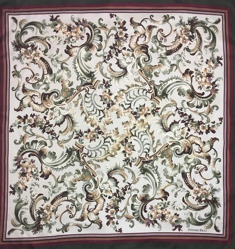 33x34 S 1607 Free post Authentic Stefano Ricci   silk scarf
