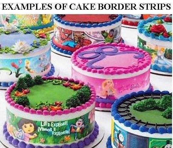 Hello Kitty Cake Strips Edible Birthday Cake Strips Cake Side Borders Side Strips