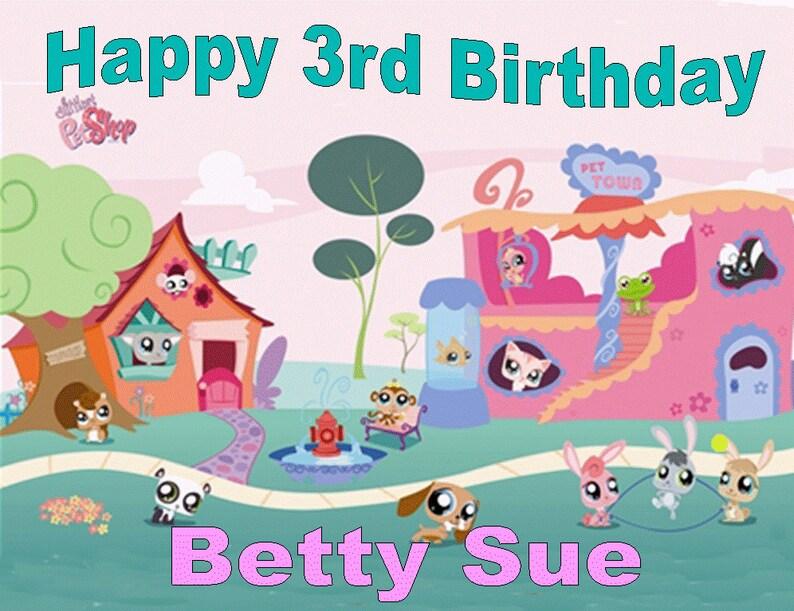 9318c2884f LITTLEST PET SHOP 275 Edible birthday cake topper icing