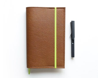 Tawny Brown Moleskine L Cover / Leather Cover for Moleskine Large size Planners and Notebooks
