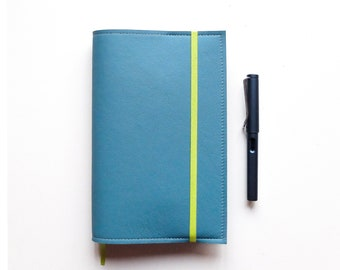 Berlin Blue Moleskine L Cover / Leather Cover for Moleskine Large size Planners and Notebooks