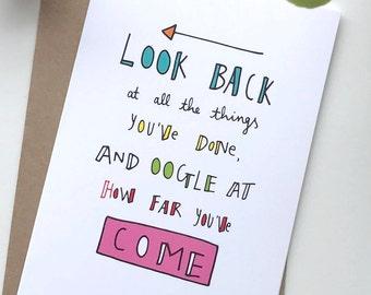 Inspirational Card – Good Luck & Keep Going