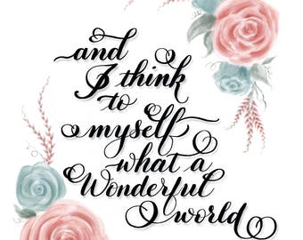 Wonderful World by Louis Armstrong - Printable Download