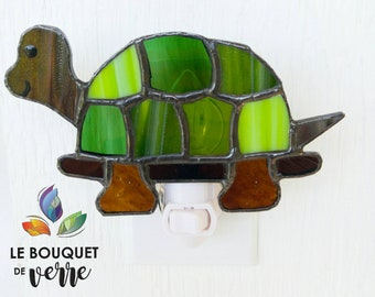 Turtle stained glass watch, children's room, birth gift, children's party gift, turtle decoration