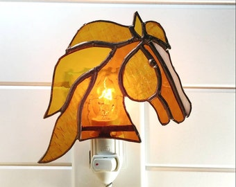 Horse stained-glass watch