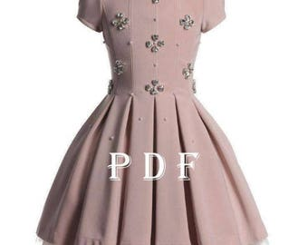 Dress PDF pattern sizes 86 children's sewing pattern Instant download digital pattern