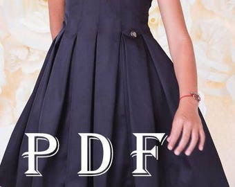 Dress PDF pattern sizes 152 children's sewing pattern Instant download digital pattern