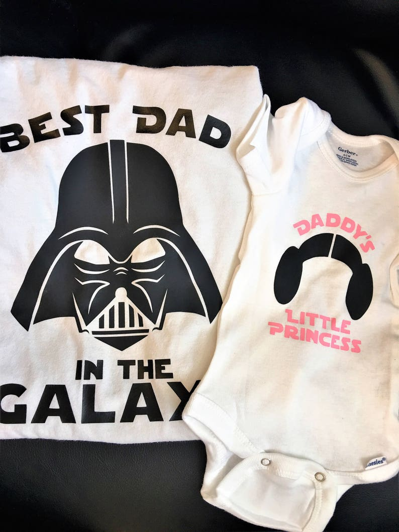 014f77c7 Daddy Daughter Star Wars Best Dad In The Galaxy Tee and | Etsy