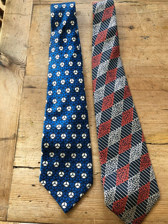 Two Jacques Fath silk ties neckties
