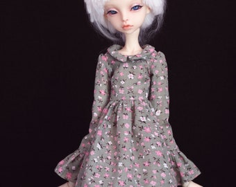 Floral cotton dress for bjd Doll Chateau kid k-7/k-11 body