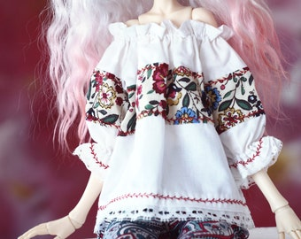 Blouse for msd Doll Chateau KID k-7/k-11 body