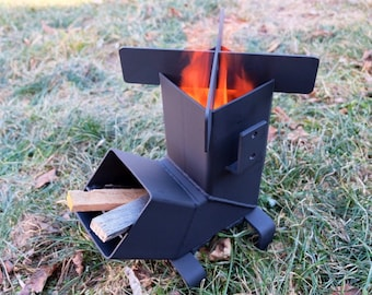 Rocket Stove *Removable top and Self Feeding*  ChristiansburgWeld Rocket Stove / Camping Stove / Wood Stove / Emergency Stove /Survival