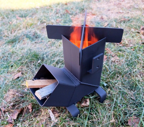 Rocket Stove Removable Top And Self Feeding Etsy