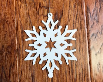 Snowflake Christmas Tree Ornament Metal Design 1  /  Christmas Snowflake Decoration  / Christmas Metal Sign  /  Home Decor / Wall Decor