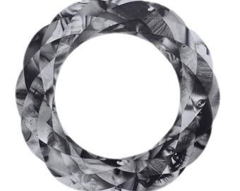 Spirograph collage - original black and white paper artwork