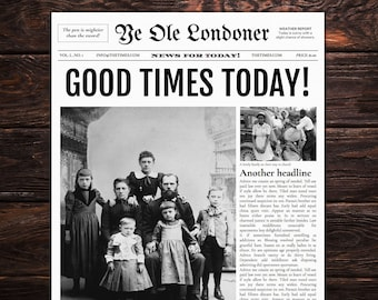 4 Page Newspaper Template Microsoft Word 8 5x11 inch | Etsy