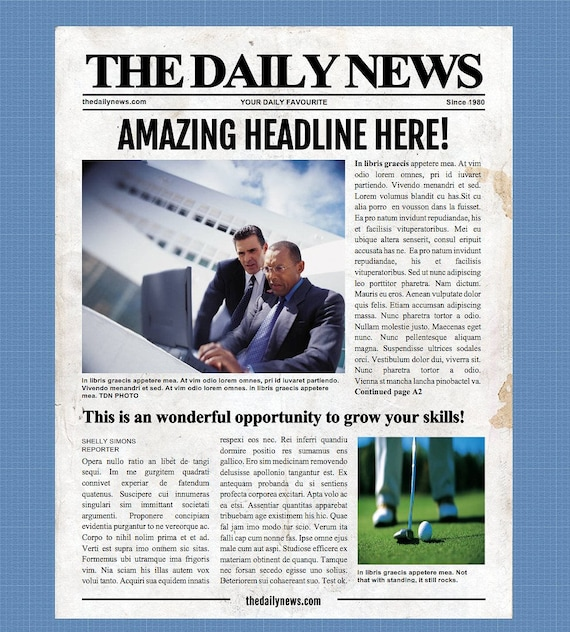 Daily Newspaper Template from i.etsystatic.com