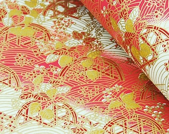 2 sheets A4 21x29.7cm Japanese Yuzen Washi Chiyogami Papers P88