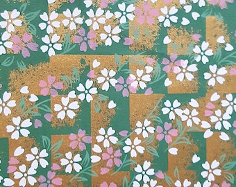 2 sheets A4 21x29.7cm Japanese Yuzen Washi Chiyogami Papers P251