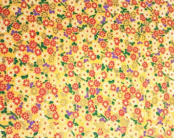 2 sheets A4 21x29.7cm Japanese Yuzen Washi Chiyogami Papers P255