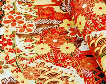 1 sheet 42x59cm Japanese Yuzen Washi Chiyogami Papers P015