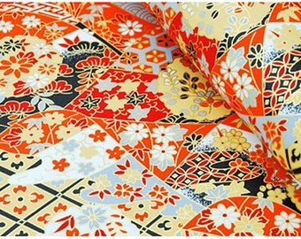 2 sheets A4 21x29.7cm Japanese Yuzen Washi Chiyogami Papers P28