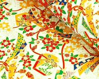 1 sheet 42x59cm Japanese Yuzen Washi Chiyogami Papers P25