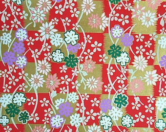 2 sheets A4 21x29.7cm Japanese Yuzen Washi Chiyogami Papers P245