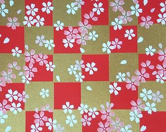 1 sheet 42x59cm Japanese Yuzen Washi Chiyogami Papers P244