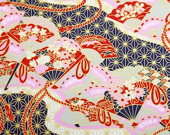2 sheets A4 21x29.7cm Japanese Yuzen Washi Chiyogami Papers P95