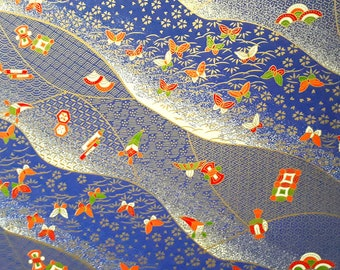 2 sheets A4 21x29.7cm Japanese Yuzen Washi Chiyogami Papers P26