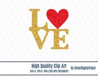 Clipart Gold Glitter Love Font Svg Commercial Use Clip Art Vector