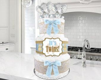 Baby Diaper Cake Sweet Peas in a Pod Single Twins Triplets Light or Dark Skin Shower Gift Centerpiece CHOOSE FABRIC